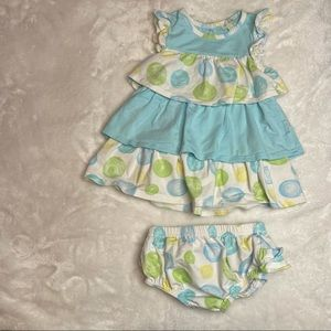 Le Top 2 piece set tank and diaper cover size 12M